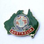 Australia Pin Green