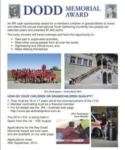 Ray Dodd Award Flyer 2015