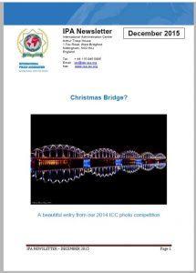 International Newsletter front page December 2015